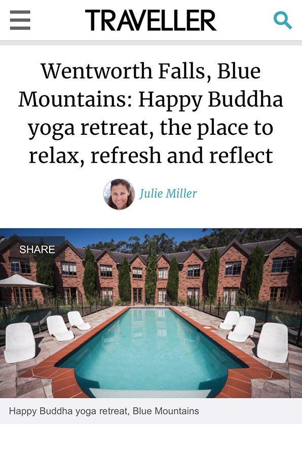 Happy Buddha Retreats featured in Traveller
