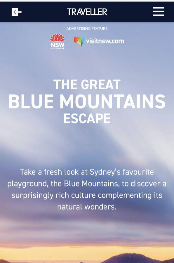 The great blue mountains escape