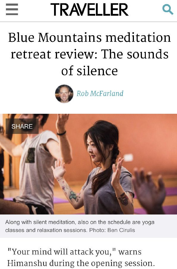 Blue Mountains meditation retreat review: The sounds of silence